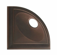 "Daltile Oil Rubbed Bronze 5"" Corner Shelf with Flat Black"