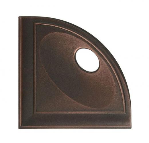 "Daltile Oil Rubbed Bronze 5"" Corner Shelf with Flat Black"