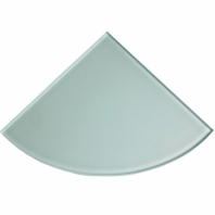 "Frosted Glass 9"" Corner Shelf"