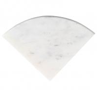 "Arabescato Carrara 9"" Radius Corner Shelve Polished"