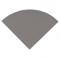 "Engineered Gray 9"" Radius Corner Shelve Polished"