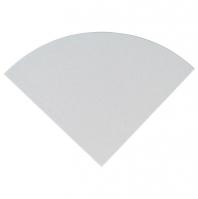"Engineered White 9"" Radius Corner Shelve Polished"
