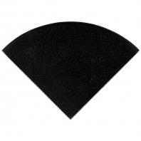 "Premium Black 9"" Radius Corner Shelve Polished"