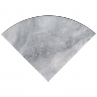 "Turkish Carrara 9"" Radius Corner Shelve Polished"