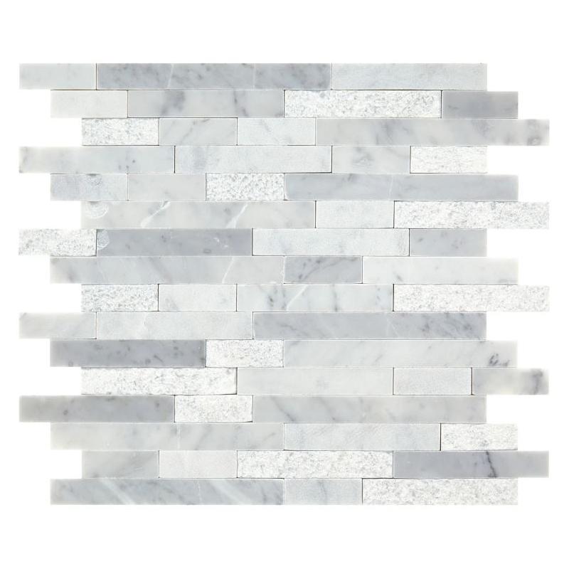 Carrara White 5 8 Random Mosaic Tile M70158lrmmms1p