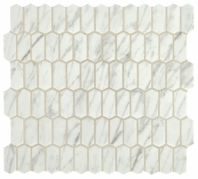 Statuette Venetian White Mini Picket Mosaic Tile
