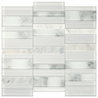Simply Stick Mosaix Stormy Mist and Glass Blend Straight Stack Tile