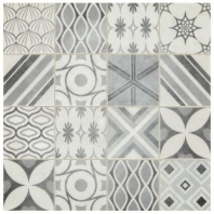 Sublimity Natural Stone Breath Sequence Encaustic Mosaic Tile