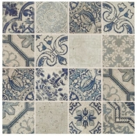 Sublimity Natural Stone Restore Sequence Encaustic Mosaic Tile