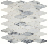 Sublimity Natural Stone Cirrus Storm Elongated Hex Mosaic Tile