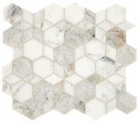 Sublimity Natural Stone Daphne White Hypnotic Mosaic Tile