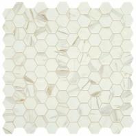"""Uptown Posh Spritzer 1"""" Hex Mosaic Tile"""