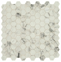 "Uptown Posh Resort 1"" Hex Mosaic Tile"