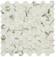 "Uptown Posh Sparkler 1"" Hex Mosaic Tile"