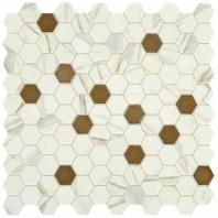 """Uptown Posh Chiffon 1"""" Hex Mosaic Tile"""