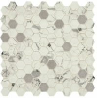 "Uptown Posh Bubbly 1"" Hex Mosaic Tile"