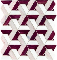 Vivify Bordeaux Stained Glass Mosaic Tile