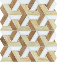 Vivify Heirloom Gold Stained Glass Mosaic Tile