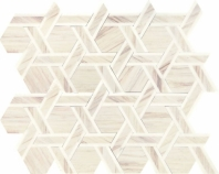 Fonte Pier White Blend Rotating Hexagon Mosaic Tile