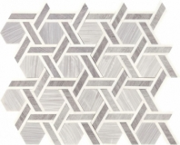 Fonte Nautical Grey Blend Rotating Hexagon Mosaic Tile