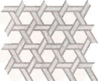 Fonte Heather Harbor Blend Rotating Hexagon Mosaic Tile