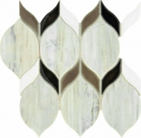 Fonte Pier White Blend Double Leaf Mosaic Tile