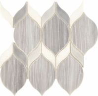 Fonte Nautical Grey Blend Double Leaf Mosaic Tile