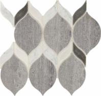 Fonte Heather Harbor Blend Double Leaf Mosaic Tile
