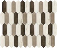 Fonte Pier White Blend Picket Mosaic Tile