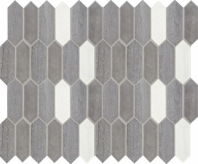 Fonte Heather Harbor Blend Picket Mosaic Tile