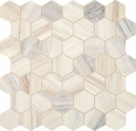 Fonte Pier White Hexagon Mosaic Tile