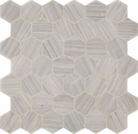 Fonte Nautical Grey Hexagon Mosaic Tile