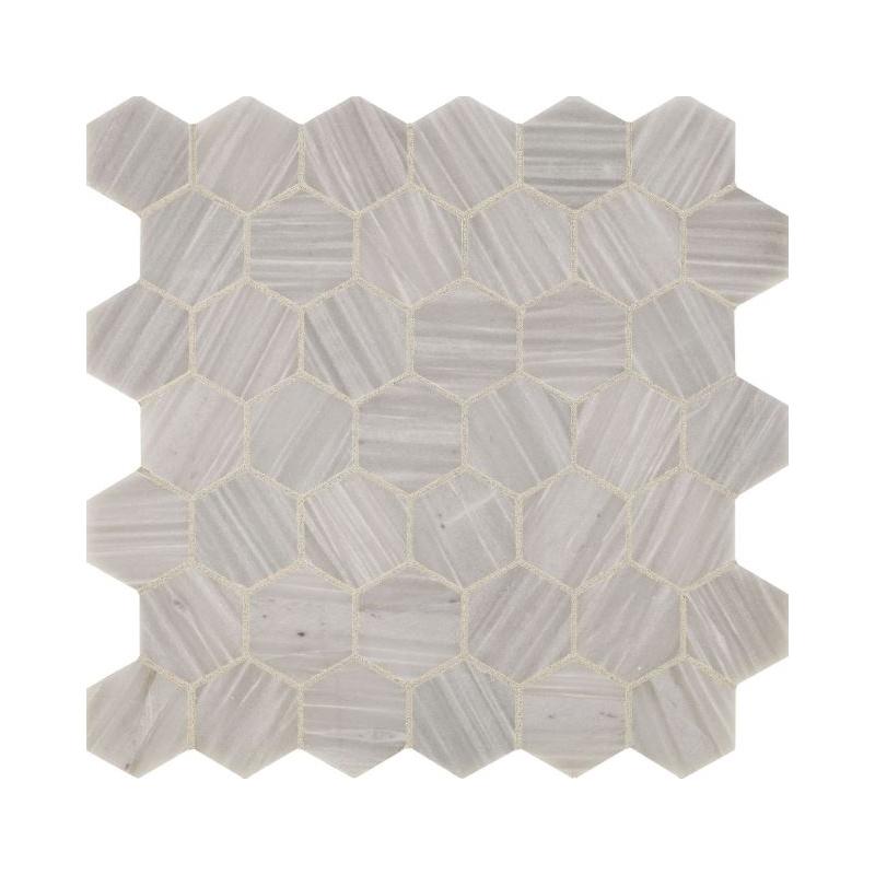 Nautical Grey Hexagon Mosaic Tile - M0132HEXMS1U