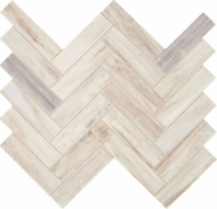 Fonte Pier White Herringbone Mosaic Tile