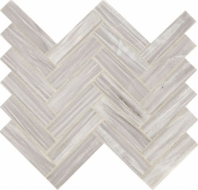 Fonte Nautical Grey Herringbone Mosaic Tile
