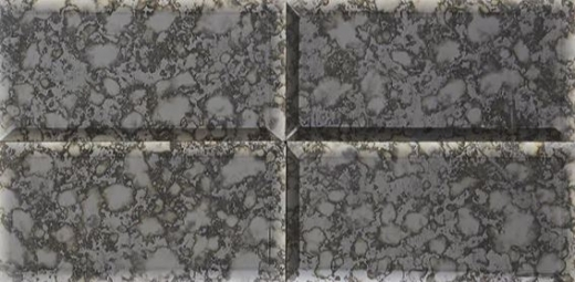 Lavaliere Black Antique Mirror Mosaic Tile LV19