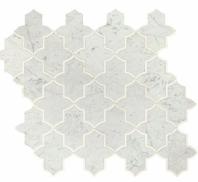 Lavaliere Carrara White Thassos Mosaic Tile LV25