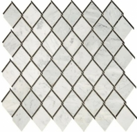 Lavaliere Carrara White Antique Mirror Mosaic Tile LV15