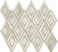 Lavaliere First Snow Elegant Brass Mosaic Tile LV30