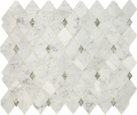 Lavaliere Carrara White Antique Mirror Mosaic Tile LV13