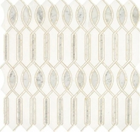 Lavaliere Carrara White Thassos With Pearl Mosaic Tile LV33