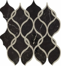Lavaliere Nero Marquina Antique Mirror Mosaic Tile LV12