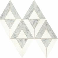 Lavaliere Carrara White Thassos Mosaic Tile LV24