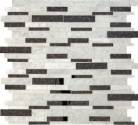Lavaliere Carrara White Black Antique Mirror Mosaic Tile LV20
