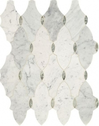 Lavaliere Carrara White Antique Mirror Mosaic Tile LV16