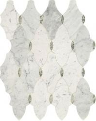 Lavaliere Carrara White Antique Mirror Mosaic Tile LV16