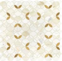 Lavaliere Calacatta Gold Brass Mosaic Tile LV32