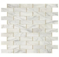 Lavaliere Alluring White Brass Mosaic Tile LV26