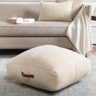 Shepherd Vegan Fur Pouf