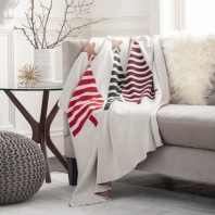 Tannen Christmas Cotton Knitted Throw